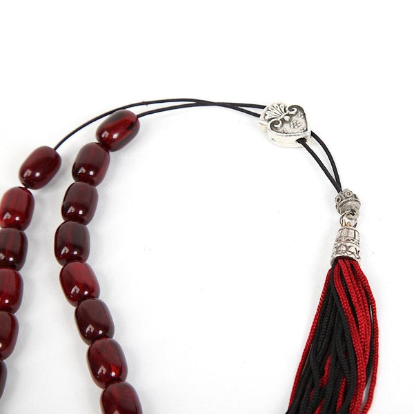 Komboloi - Worry Beads - Burgundy