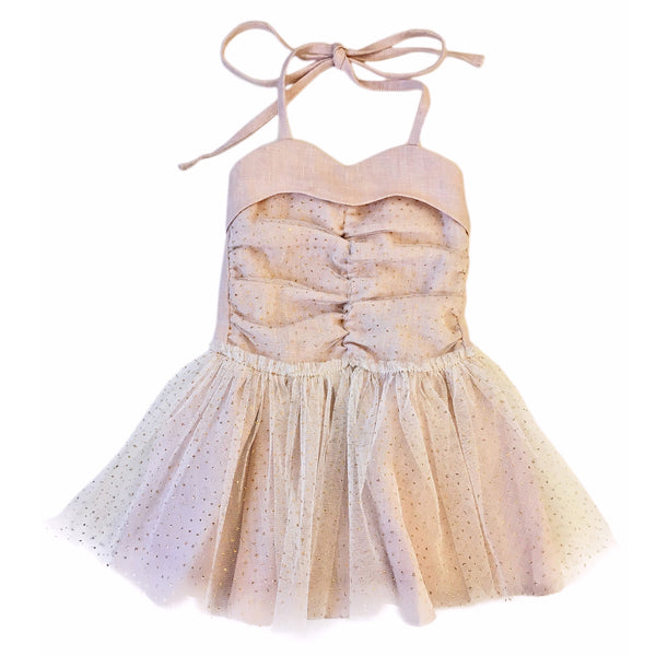 oh baby! Glinda Sweetheart Dress - Ivory Gold/Blush - oh baby!