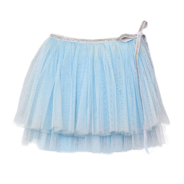 oh baby! Glinda Wrap Skirt - Infant - Powder Blue/Silver