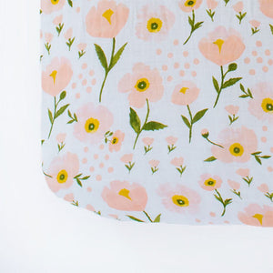 Clementine Kids - Crib Sheet - Blush Bloom - oh baby!