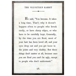 The Velveteen Rabbit Art Print - oh baby!