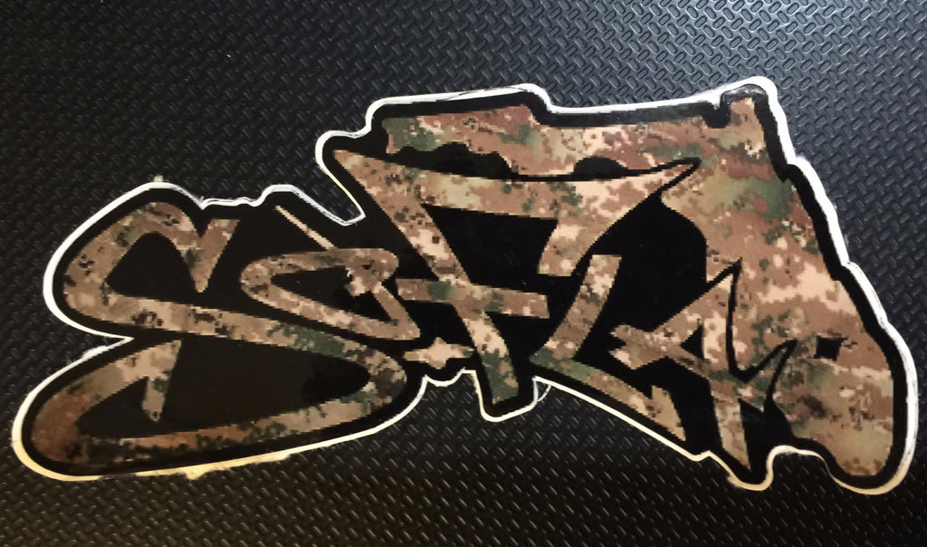 Decals Digital Camouflage Woods