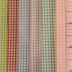 "100% Cottons: Pima Checkerboard Windowpane - 45"" - Old B Doll Clothing Company"