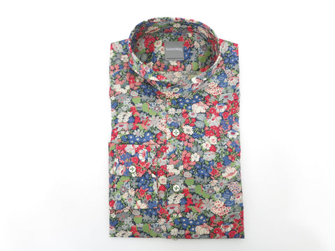 SuitedMan D'Italia, Liberty of London, Fleurs Red/Blue, Cutaway Collar