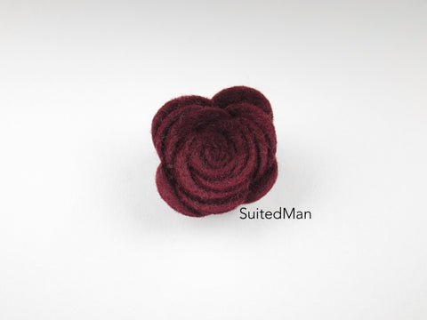 Lapel Flower, Felt, Rose, Brandy