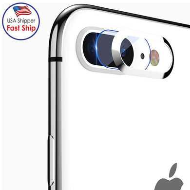 HD Tempered Glass Camera Lens Protective Film Set - Silver for iPhone 7 Plus - amzer