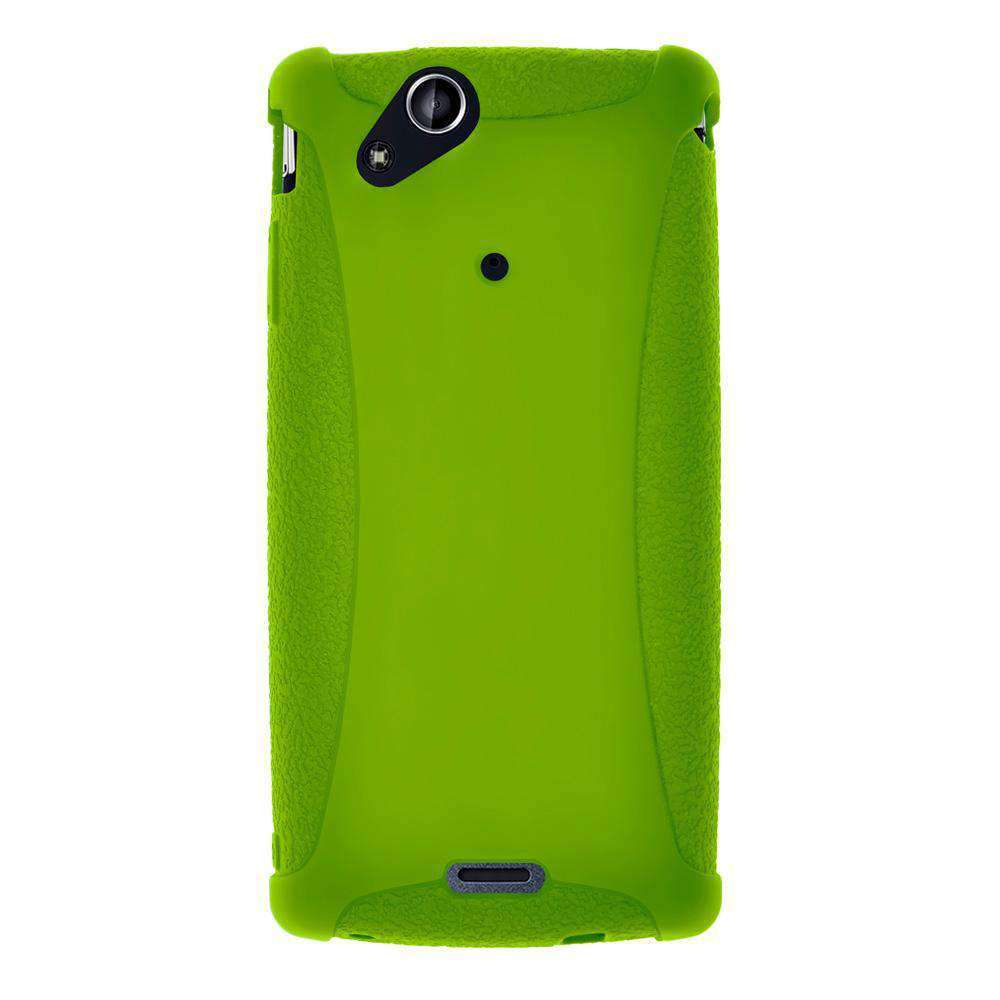 AMZER Silicone Skin Jelly Case for Sony Ericsson Xperia arc - Green - amzer
