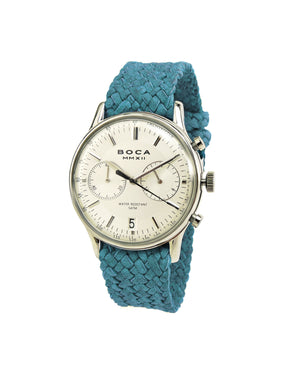 Metropole Chrono Silver with Turquoise Wristband - BOCA MMXII - Official website
