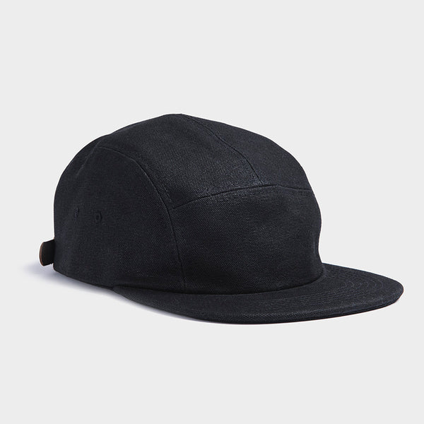 Otter Wax Black 5-Panel Waxed Canvas Camp Hat