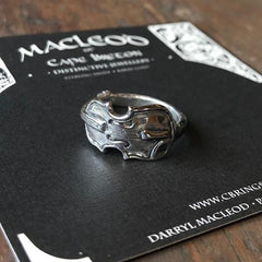 Handmade sterling silver fiddle ring by Darryl MacLeod of MacLeod of Cape Breton
