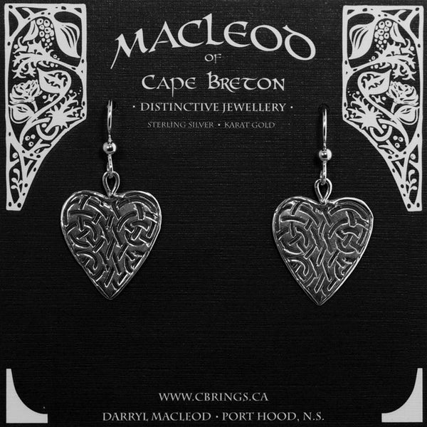 E-112 Celtic Heart Earrings