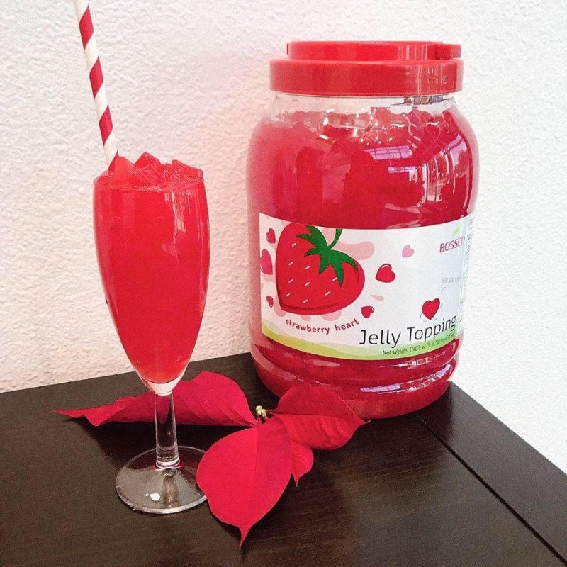 Bossen Strawberry Heart Jelly decor