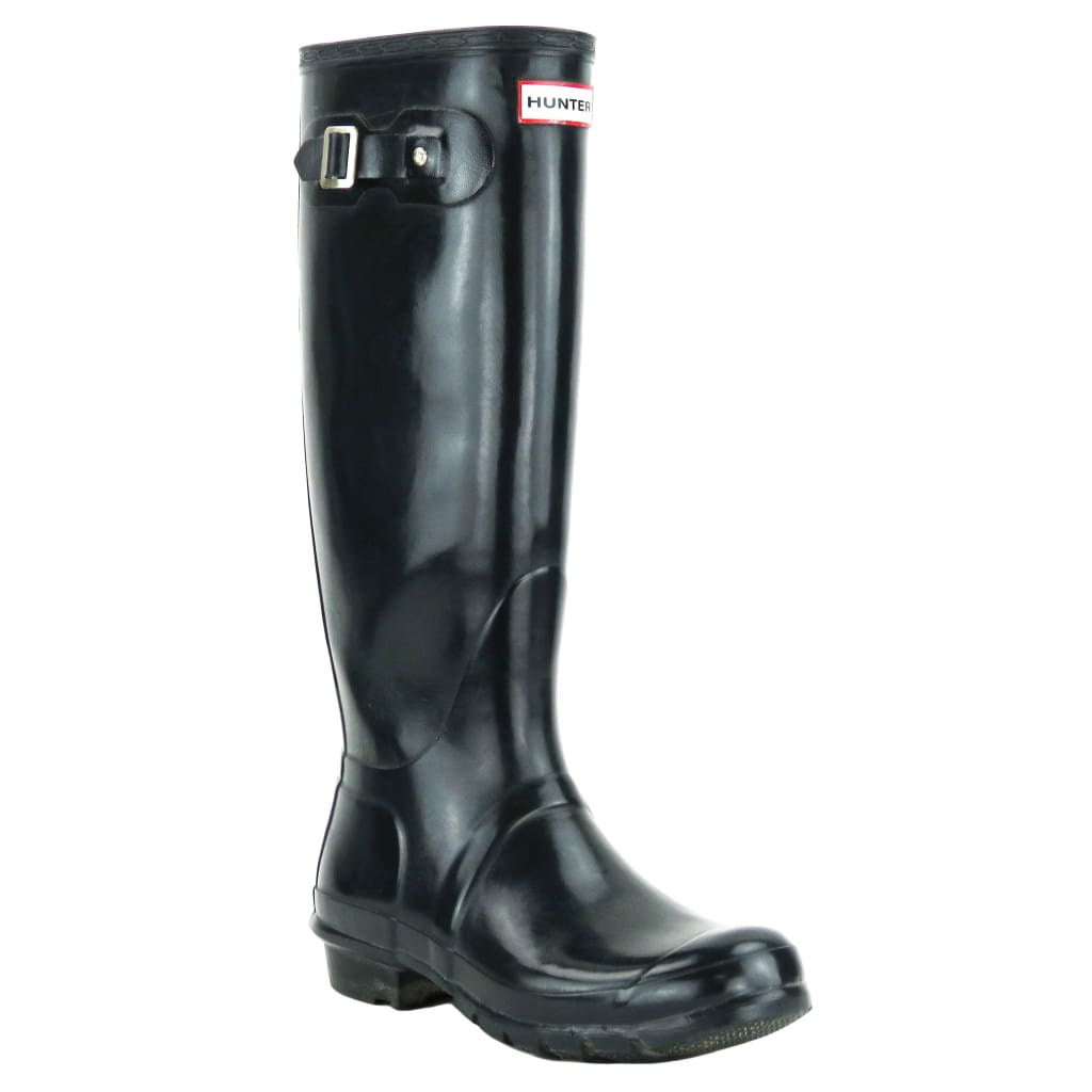 Hunter Dark Blue Rubber Original Tall Rain Boots - Boots/Rain Boots