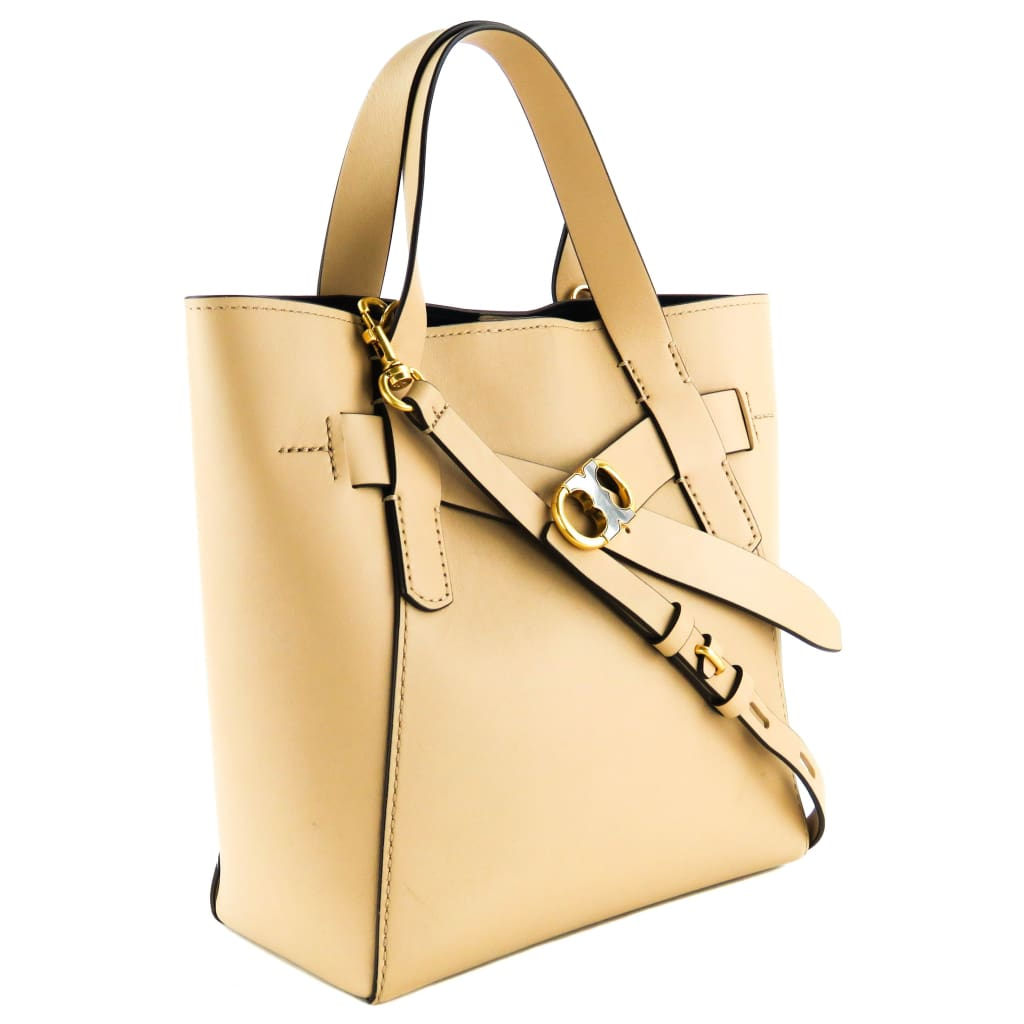 Tory Burch Tan Leather Gemini Perfect Sand Small Tote Bag - Totes
