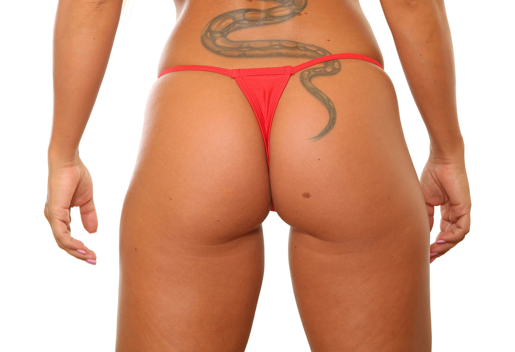 Red Low Rise Stripper Thong