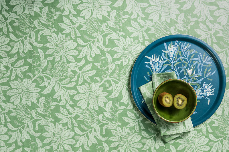Banksia Green Linen/Cotton Tablecloths