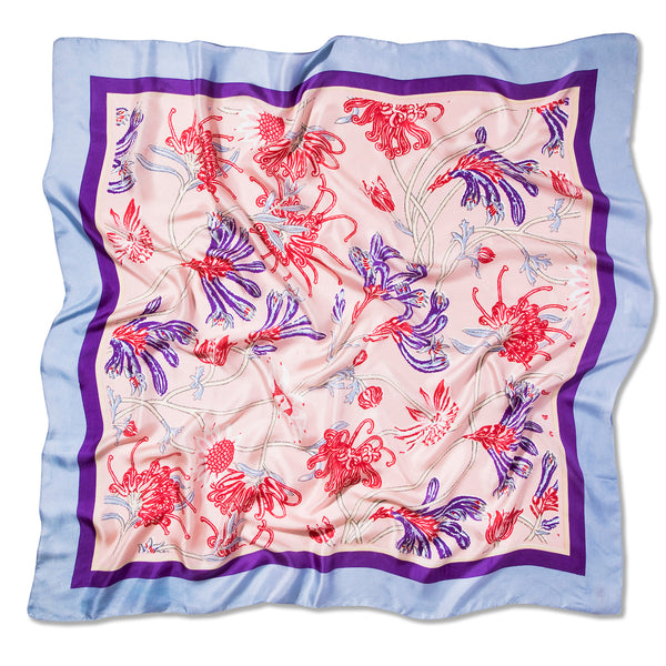 Native Meadow Blush Silk Twill Scarf