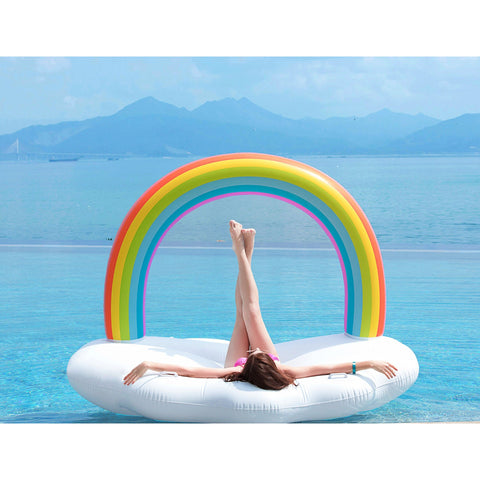 Rainbow Cloud Pool Float - oddgifts.com