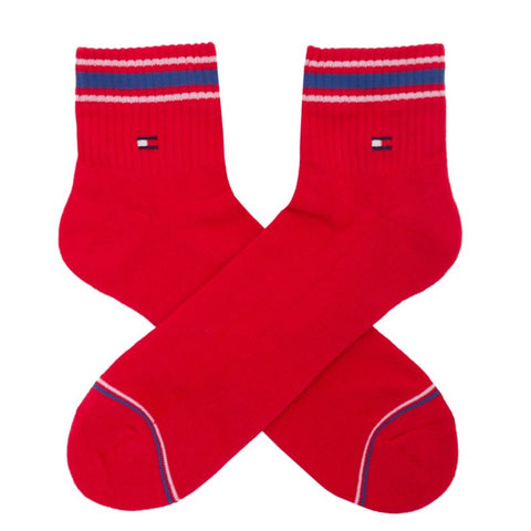 TOMMY HILFIGER ICONIC SPORTS RED SOCKS