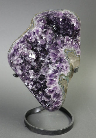 Amethyst from Uruguay, Custom Stand - 12.52 lbs