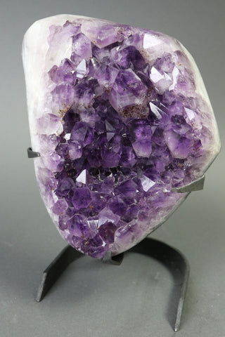 Amethyst from Uruguay, Custom Stand - 15.54 lbs