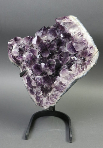 Amethyst from Uruguay, Custom Stand - 23.15 lbs.