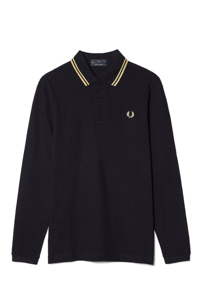 Fred Perry Made In England Long Sleeve Twin Tipped Polo