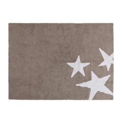 Three Stars Rug in Linen White Colour