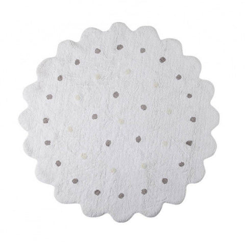 Round Galletita White Rug