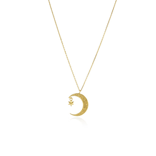 Crescent Moon & Star Necklace