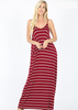 White Plum Maxi Dresses Small / Army Green Essential Striped Cami Maxi Dress - More Colors!