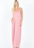 White Plum Maxi Dresses Small / Dusty Rose Essential Striped Cami Maxi Dress - More Colors!