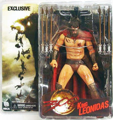 "300 (Film) Series 1 – King Leonidas (Variant "" Battle Wounded"" Version) 6"" Figure (SDCC 2007 Exclusive)"