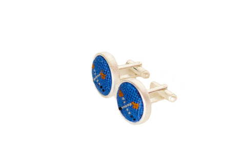 Asher Riley golf clubs needlepoint cufflinks