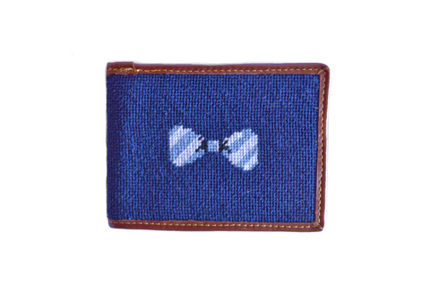 Asher Riley Bow Tie Needlepoint Wallet