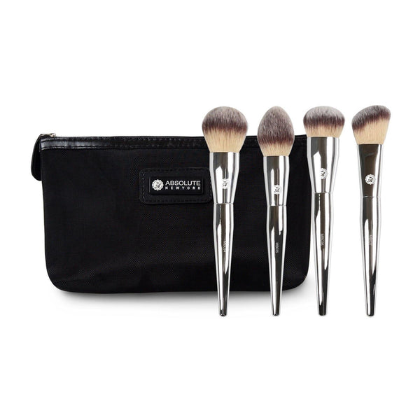 Silver Face Brush Set