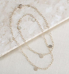THIN LINK DISCS NECKLACE