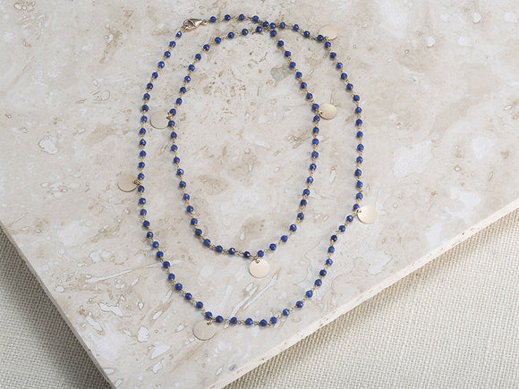 SEMI-PRECIOUS GEMSTONE NUGGET NECKLACE