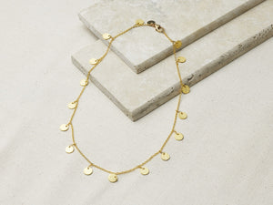 Dangle Disc Necklace