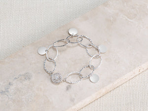 Hammered Link Single Strand Bracelet