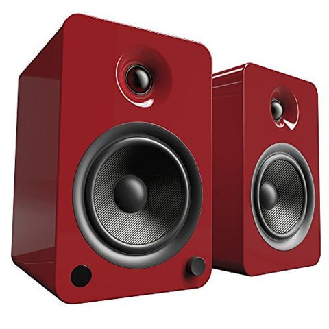 Kanto YU6 Powered Speakers with Bluetooth and Phono Preamp - Gloss Red