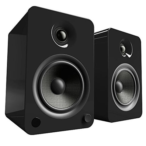 Kanto YU6 Powered Speakers with Bluetooth and Phono Preamp - Gloss Black