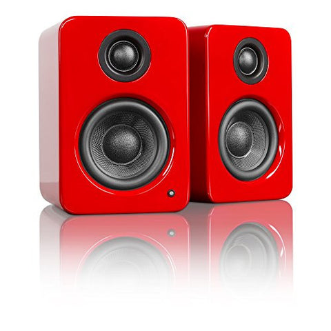 Kanto YU2 Powered Desktop / Bookshelf Speakers - Gloss Red