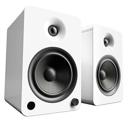 Kanto YU6 Powered Speakers with Bluetooth and Phono Preamp - Gloss White
