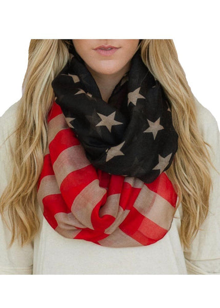 Ameircan Flag Scarf Ladies