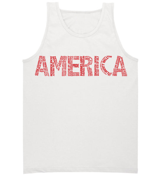 Patriotic Summer America Tank TOp