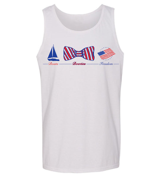 'Boats, Bow Ties & Freedom' Tank Top- 3rd Edition