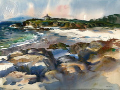 Pebble Beach, California art by Art Riley. HD giclee art prints for sale at CaliforniaWatercolor.com - original California paintings, & premium giclee prints for sale