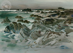 California Coast, California art by Art Riley. HD giclee art prints for sale at CaliforniaWatercolor.com - original California paintings, & premium giclee prints for sale