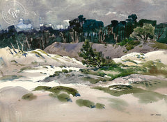 Sand Dune, 17 Mile Drive, California art by Art Riley. HD giclee art prints for sale at CaliforniaWatercolor.com - original California paintings, & premium giclee prints for sale